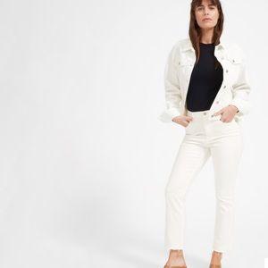 EVERLANE The Kick Crop White Jean Size 26